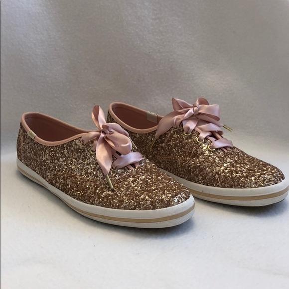 d23e9f3d349b kate spade Shoes - Kate Spade Rose Gold Glitter Keds